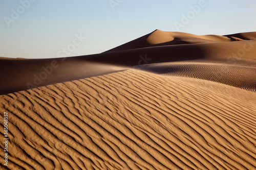 Popular motion picture location, the Imperial Sand Dunes bordering Arizona, Cali Canvas Print