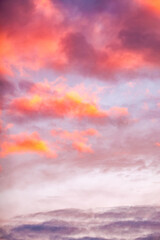 Twilight sky and cloud at sunset background image