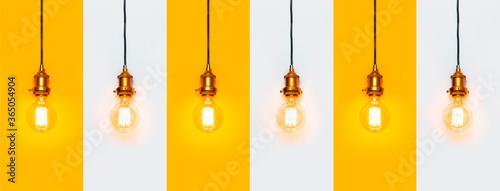 Obraz na plátně Creative idea concept, designer lamp, modern interior item