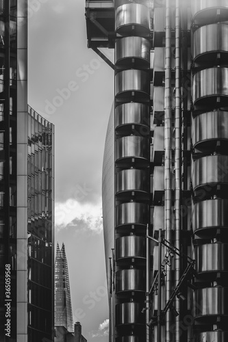 Lloyds building in London, sometimes referred to as the inside-out building, is Canvas Print