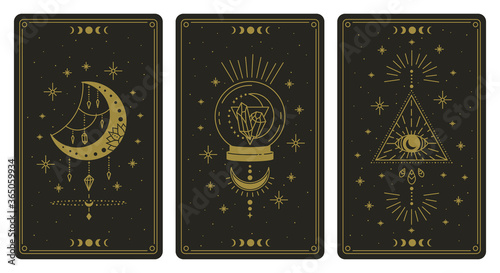 Tableau sur Toile Magical tarot cards
