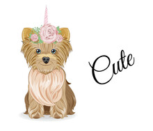 Yorkshire Terrier Dog Unicorn