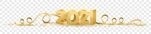 2021 Happy New Year Vector Symbol Transparent Background Isolated
