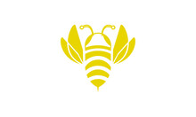 Bee Flat Icon Open Wings And F...