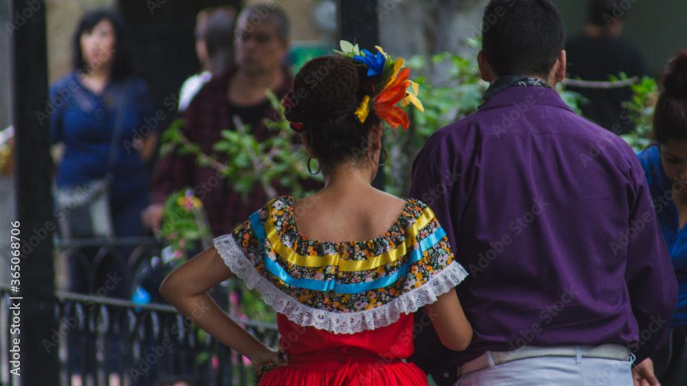 Fototapeta Pareja en traje tradicional Mexicano