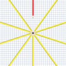Set Of Yellow Pencils In A Cir...