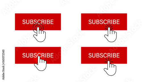 Subscribe button with hand cursor Fototapet