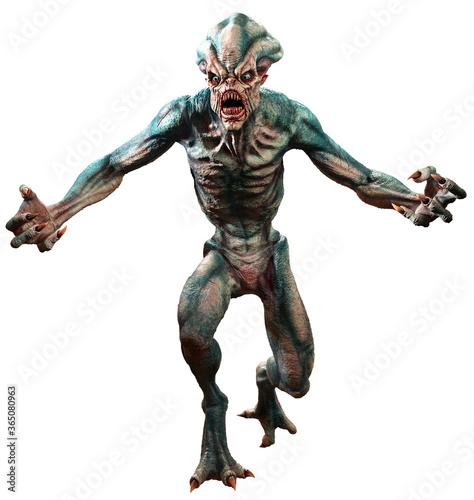 Swamp horror monster 3D illustration Fotobehang