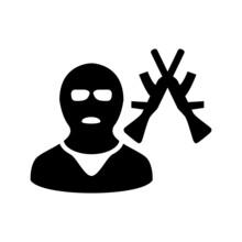 Armed Criminals Icon Or Logo I...