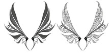 Dainty Fairy Wings Isolated On...