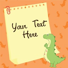 Dinosaur And Paper
