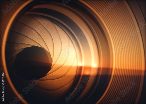 Valokuvatapetti Optical Lens Diaphragm Macro Photography