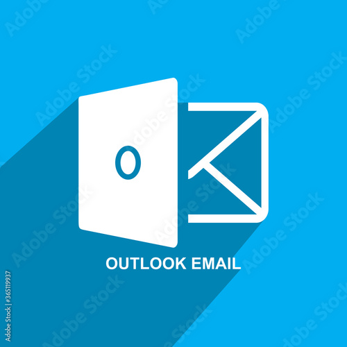 outlook mail icon,business icon Canvas Print
