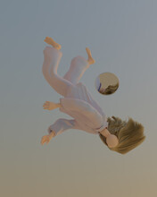 Illustration Of Woman Falling In Pajamas