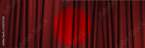 Leinwand Poster 赤のステージ幕の背景