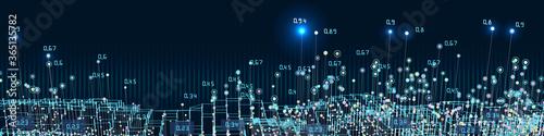 Abstract background big data visualization Fototapet