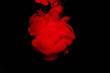 水に溶けるインク 赤