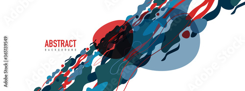 Obraz Trendy liquid style shapes abstract design, dynamic vector background for placards, brochures, posters, web landing pages, covers or banners - fototapety do salonu