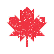 Icon Of Maple Leaf With Spotted Effect