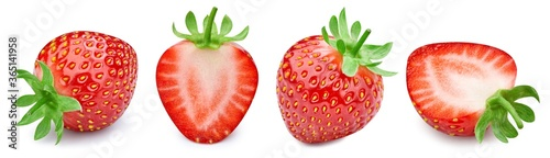 Obraz na plátně Strawberry collection Clipping Path