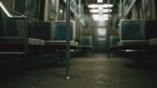 Subway Car In USA Empty Because Of The Coronavirus Covid-19 Epidemic