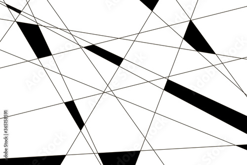 intersection of lines. abstract geometric pattern. Canvas Print