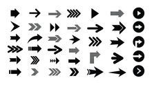 Arrows. Set Of Arrow Right Vec...
