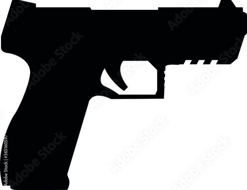pistol hand gun eps vector Tableau sur Toile