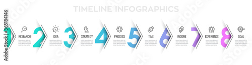 Valokuva Vector Infographic arrow design with 8 options or steps