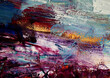 Colorful oil painting brushstroke on canvas abstract background with texture.