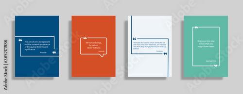 Obraz na płótnie Quote speech box design templates set