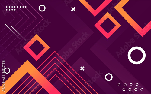 Valokuva Purple geometric abstract background design
