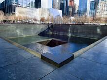Corner View Of The 9/11 Memorial