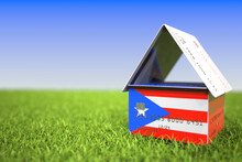 Flag Of Puerto Rico On Bank Ca...