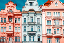 Three Baroque Buildings. Front...