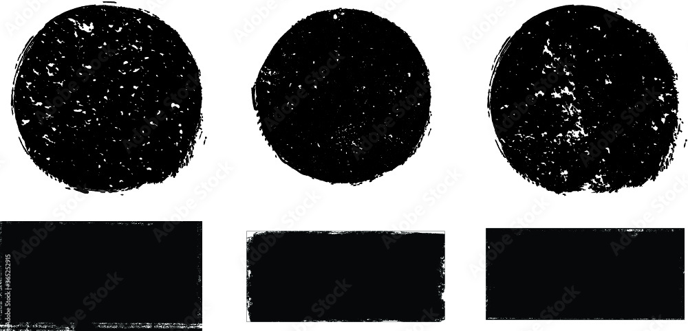Fototapeta Grunge post Stamps Collection, Circles. Banners, Insignias , Logos, Icons, Labels and Badges Set . vector distress textures.blank shapes.