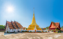 Wat Phra That Chae Haeng Temple, One Of The Most Famous Tourist Attraction In Nan Province, Northern Thailand