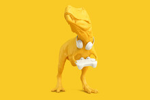T-rex With Gamepad. Gaming Con...