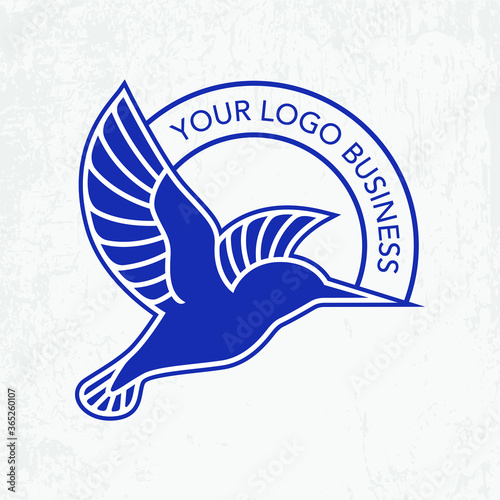 Blue kingfisher logo design for your business Fototapete
