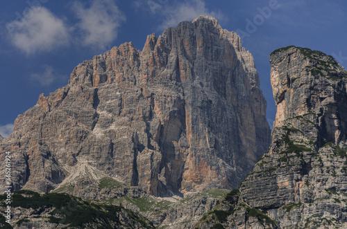 Leinwand Poster Brenta Group peaks as seen from the East, Brenta Dolomites, Trentino, Italy
