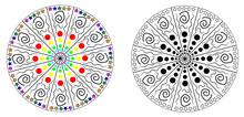 Black And White And Color Circ...