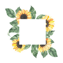 Watercolor Summer Frame With S...