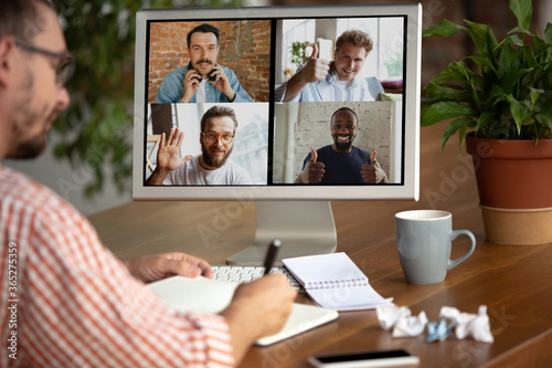 Remote meeting Canvas Print