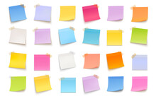 Vector Multicolored Set Of Sticky Notes On White Background