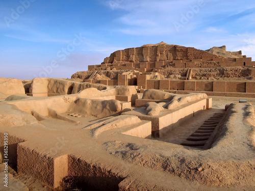 Slika na platnu Remains of Elamite temple of god Kiririsha & ziggurat Chogha Zanbil, Shush, Iran
