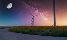 Wind Turbines Generate Electri...