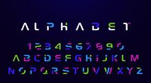 Neon Alphabet Set For Logo