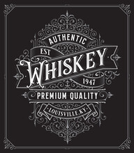 Vintage Whiskey Style Frame Bo...