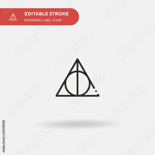 Deathly Hallows Simple vector icon Billede på lærred