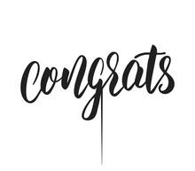 Congrats Topper. Congratulation Template For Laser Cutting